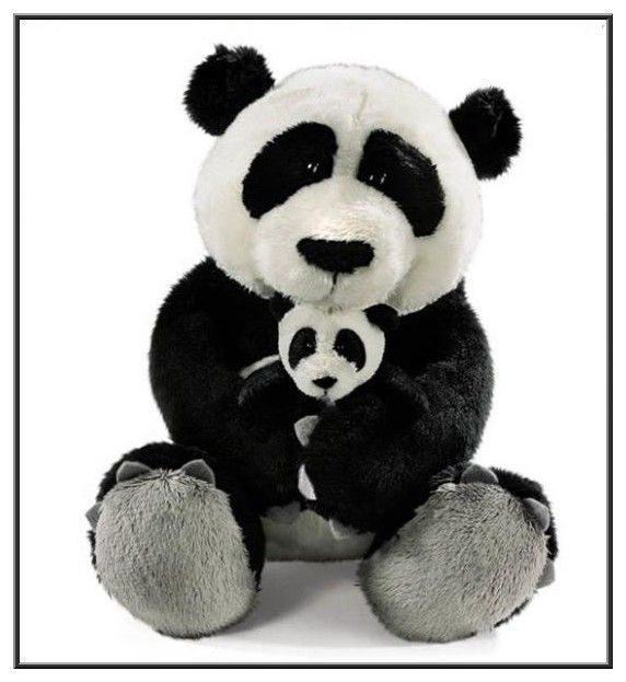 6 panda en peluche. Black Bedroom Furniture Sets. Home Design Ideas