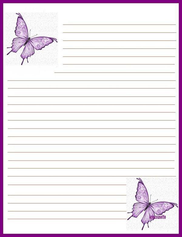 52 mon papier a lettre papillons violet - Modele de papillon a imprimer ...