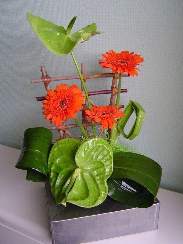 114 composition florale pour dresser votre table for Composition florale pour table