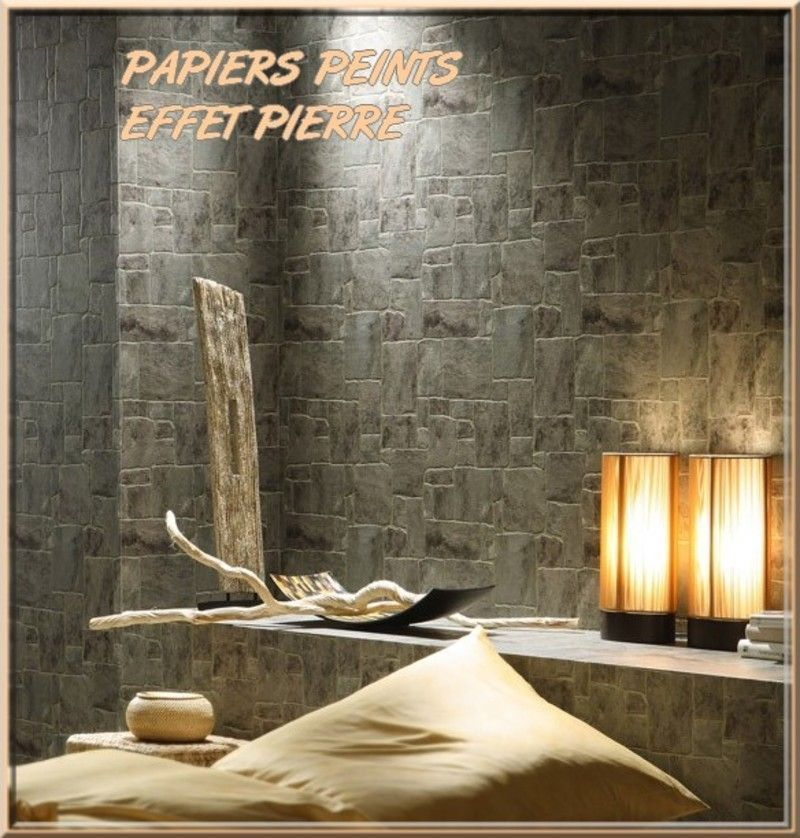 pin papier peint effet mur brique collection designed by. Black Bedroom Furniture Sets. Home Design Ideas